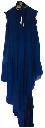 Off-White Blue Silk Dresses