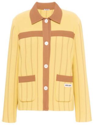 Miu Miu Oversized Intarsia Knit Cardigan