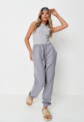 Missguided Charcoal Oversized 90S Joggers