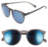 Raen Men's Remmy 52Mm Sunglasses - Grey Crystal / Blue