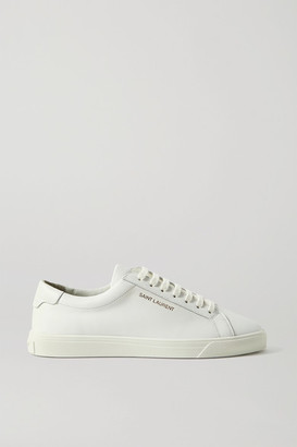 Saint Laurent Andy Logo-print Leather Sneakers - White