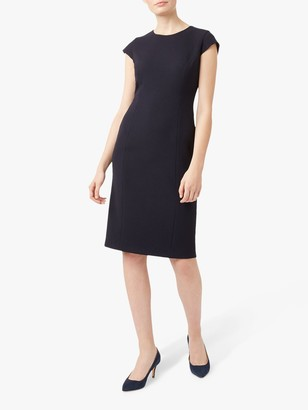 Hobbs Petite Leila Dress, Navy