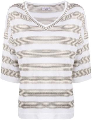 Brunello Cucinelli striped knit top