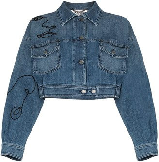 Moschino Embroidered Denim Jacket