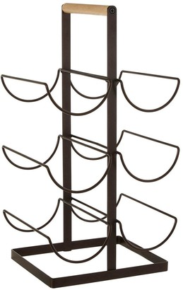 Premier Housewares Wood Handled Vertex 6-Bottle Wine Rack