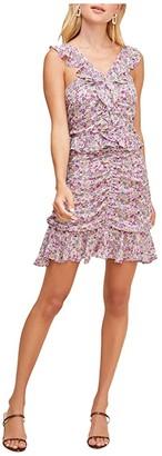 ASTR the Label Zinnia Dress (Pink/Purple Floral Print) Women's Dress