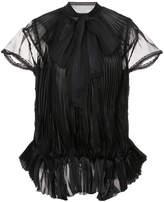 Sacai plissé pleat bow blouse
