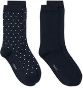 Gant 2-Pack Solid & Dot Socks