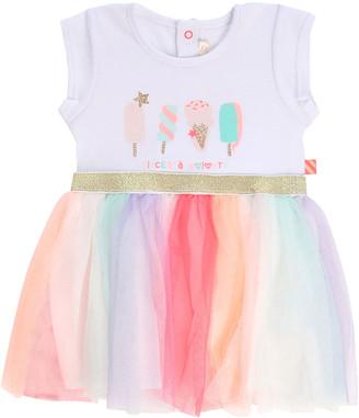 Billieblush Girl's Ice Cream Print Jersey & Tulle Dress, Size 2-3