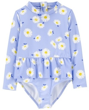 Carter's Baby Girl Daisy Rashguard One Piece
