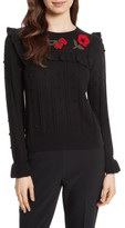 Kate Spade Women's Poppy Embroidered Sweater