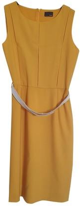 Fendi Yellow Wool Dresses
