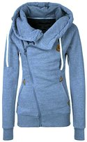 Alionz Womens Trendy Women's Casual Slim Fit Oblique Zip-up Hoodie Jackets XL