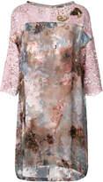 Antonio Marras floral lace shift dress