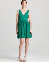 Aqua Lace Dress - V Neck Sleevless
