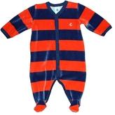 Petit Bateau Baby Boy's Cafrine Velour Footie - Navy / Red