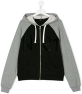 No21 Kids colour block hoodie