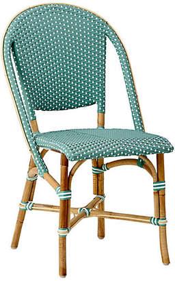 Sofie Bistro Side Chair - Salvie Green/White - Sika Design