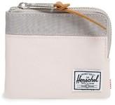 Herschel Women's 'Johnny' Half Zip Wallet - Black