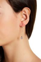 Vince Camuto Crystal Detail Disc Drop Threader Earrings