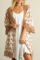Umgee USA Floral Lace Kimono