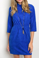 Michele Blue Suede Dress