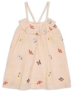 Peek Girls' Maya Embroidered Butterfly Gauze Top - Little Kid, Big Kid