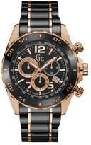 Gc SportRacer Men's Black Ceramic & Silver Watch