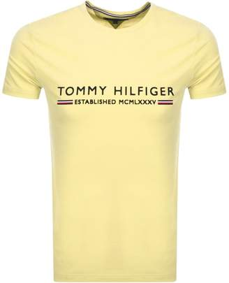 Tommy Hilfiger Logo T Shirt Yellow