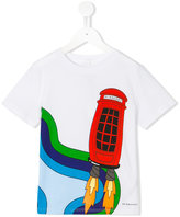 Burberry rocket phone box print T-shirt - kids - Cotton - 4 yrs