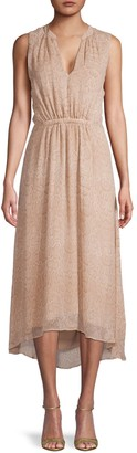 Joie Hilarie Snake-Print Silk Dress