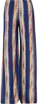 Missoni Crochet-knit Wide-leg Pants - Blue