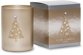 Primal Elements Christmas Tree Icon Candle in Gold Glass