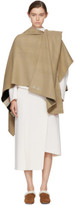 Burberry Reversible Tan Merino Charlotte Cape