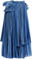 Rochas Pleated cotton and silk-blend skirt
