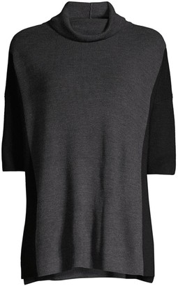 Eileen Fisher Funnel-Neck Wool Top