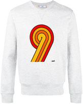 Ami Alexandre Mattiussi 9 print sweatshirt - men - Cotton - XXS