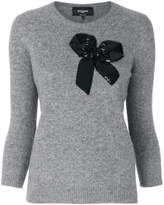 Rochas sequin bow sweater