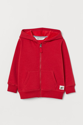 H&M Fleece-lined Hooded Jacket - Red