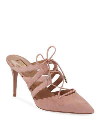 d17653528375b Mid Heeled Lace Up Shoes - ShopStyle