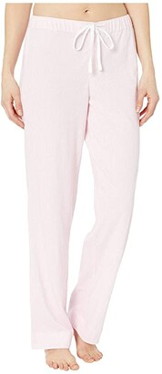 Lauren Ralph Lauren Cotton Polyester Jersey Separate Long Pants (Pink Stripe) Women's Pajama