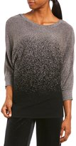 I.N. Studio 3/4 Sleeve Ombre Sparkle Pullover Sweater