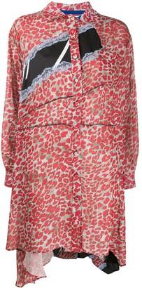 Koché Leopard Shirt Dress