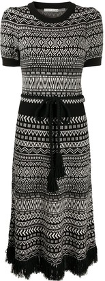 Alice + Olivia Julia knitted midi dress