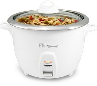 Maxi Matic Elite Gourmet 5-Cup (Uncooked) Rice Cooker with Stainless Steel Cooking Pot