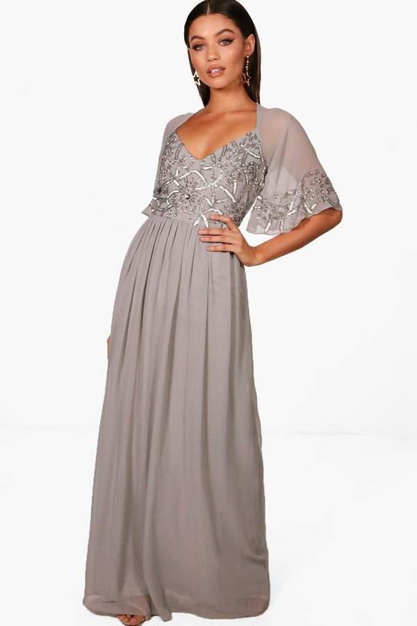 af8359e83730 Grey Embellished Skater Dress - ShopStyle UK