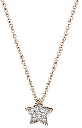 ginette_ny Tiny Star 18K Rose Gold & Diamond Necklace