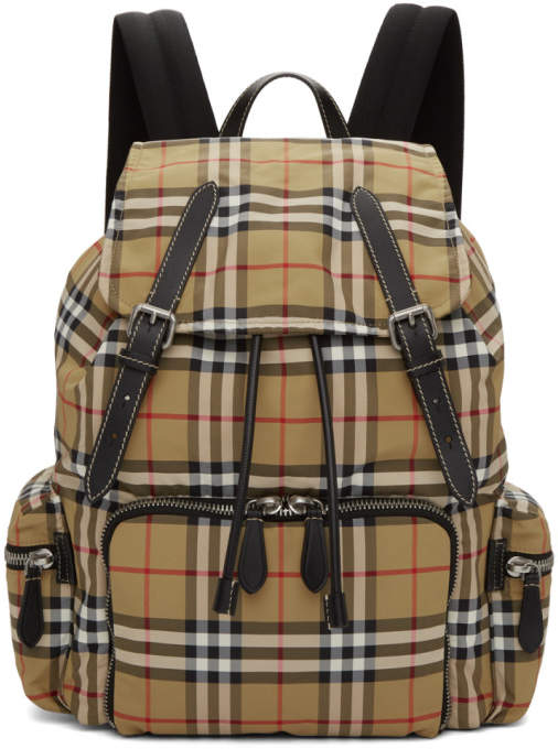 Burberry Yellow Vintage Check Backpack