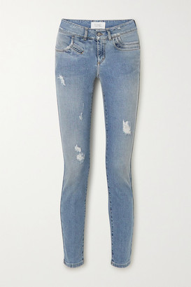 Givenchy Distressed Mid-rise Skinny Jeans - Blue