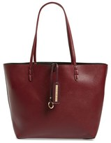 Street Level Junior Women's Reversible Faux Leather Tote - Burgundy